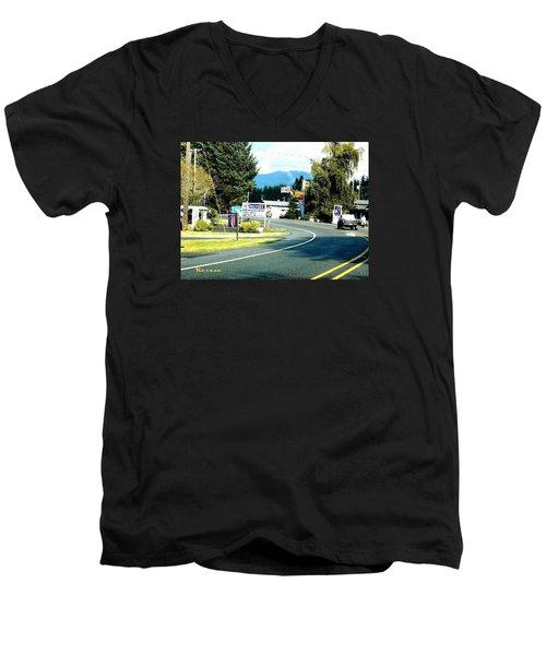 Twilight In Forks Wa 2 Men's V-Neck T-Shirt by Sadie Reneau