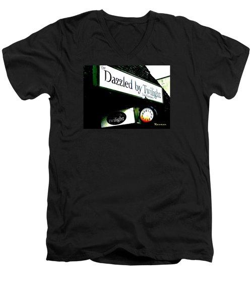 Twilight In Forks Wa 4 Men's V-Neck T-Shirt by Sadie Reneau