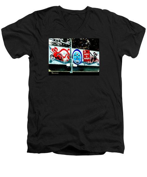 Twilight In Forks Wa 6 Men's V-Neck T-Shirt by Sadie Reneau