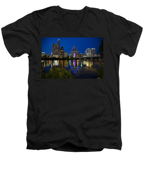 Twilight Reflections Men's V-Neck T-Shirt