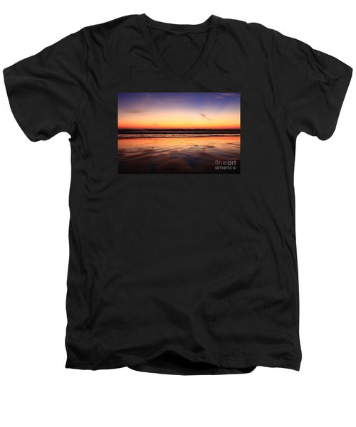Cardiff By The Sea Glow Men's V-Neck T-Shirt
