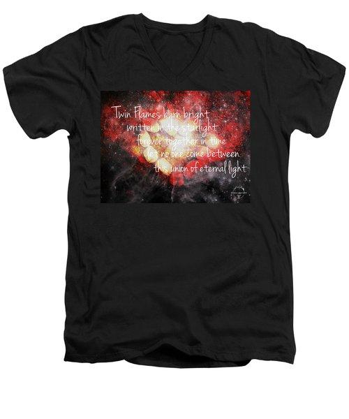 Twin Flames Men's V-Neck T-Shirt by Absinthe Art By Michelle LeAnn Scott