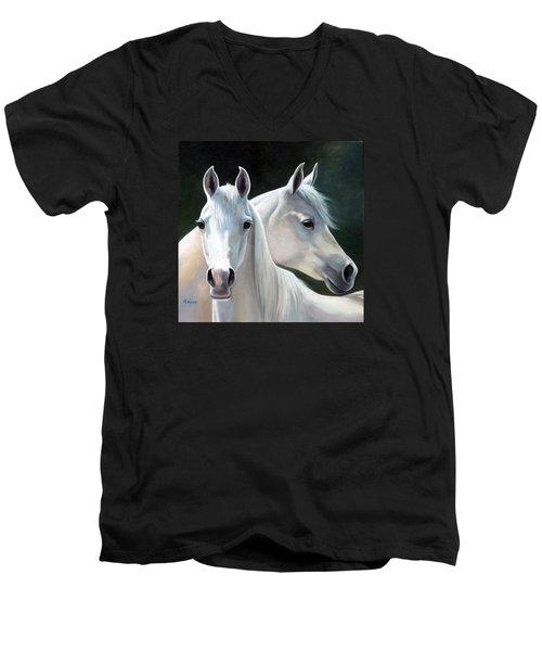 Twins Men's V-Neck T-Shirt by Vivien Rhyan