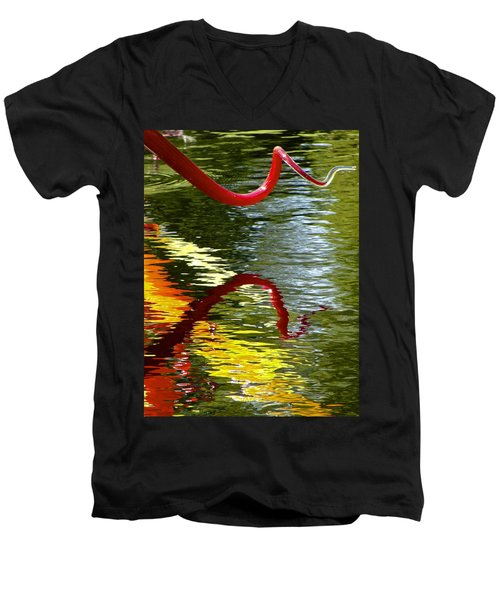 Twisted Ripples Men's V-Neck T-Shirt
