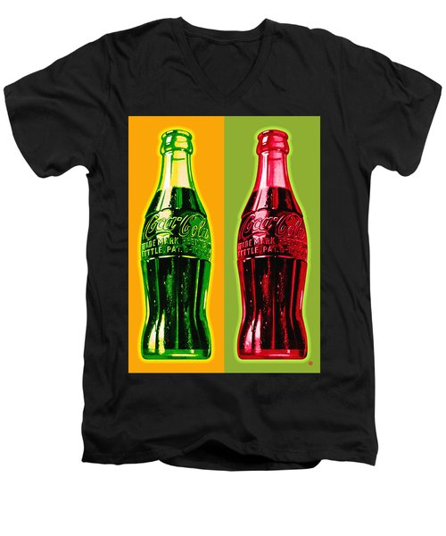 Two Coke Bottles Men's V-Neck T-Shirt