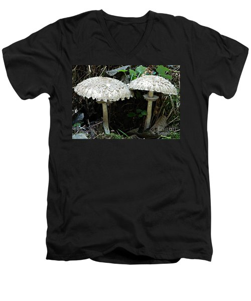 Two Magnificent Toadstools Men's V-Neck T-Shirt