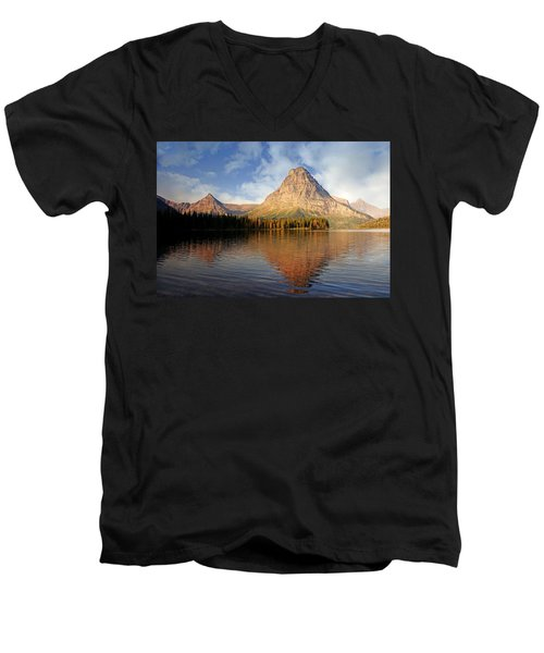 Men's V-Neck T-Shirt featuring the photograph Two Medicine by Marty Koch