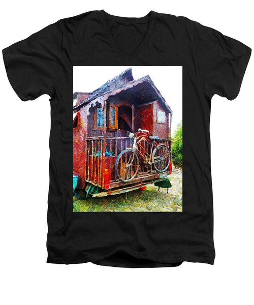 Two Wheels On My Wagon Men's V-Neck T-Shirt