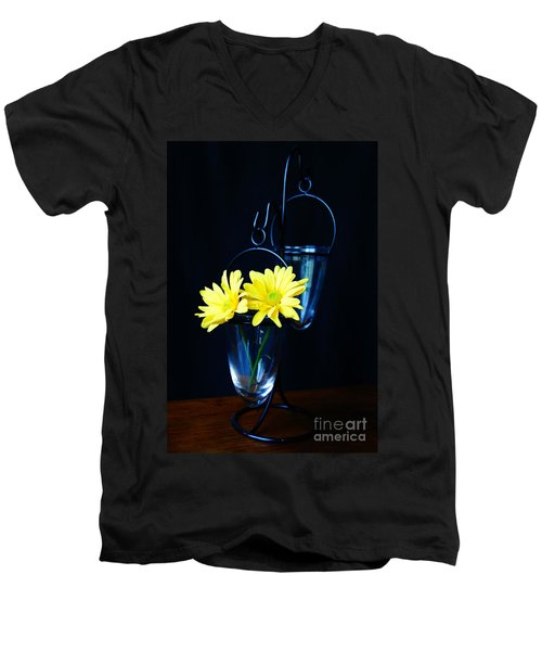 Two Yellow Daisies Men's V-Neck T-Shirt