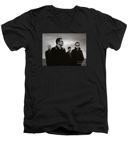 U2 Men's V-Neck T-Shirt by Paul Meijering