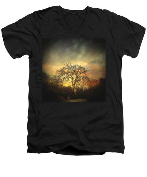 Un Dernier Crepuscule Men's V-Neck T-Shirt by Taylan Apukovska