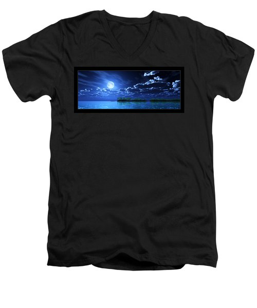 Under A Silvery Moon... Men's V-Neck T-Shirt