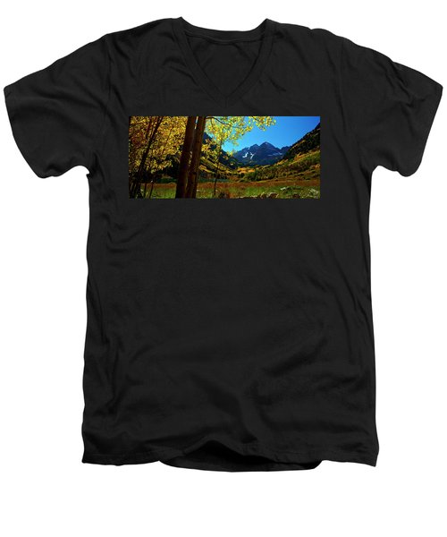 Under Golden Trees Men's V-Neck T-Shirt
