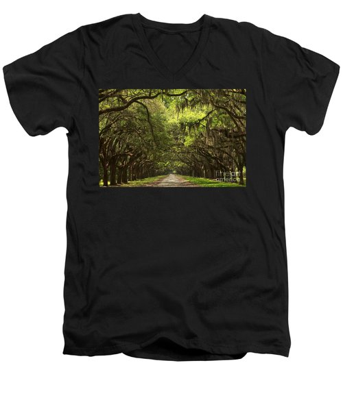 Under The Ancient Oaks Men's V-Neck T-Shirt