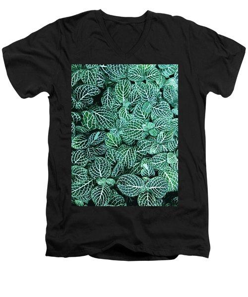 Ha Men's V-Neck T-Shirt by Julio Lopez