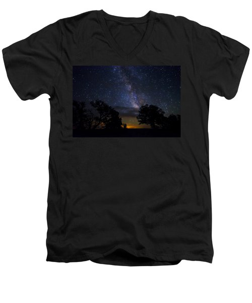 Under The Stars At The Grand Canyon  Men's V-Neck T-Shirt