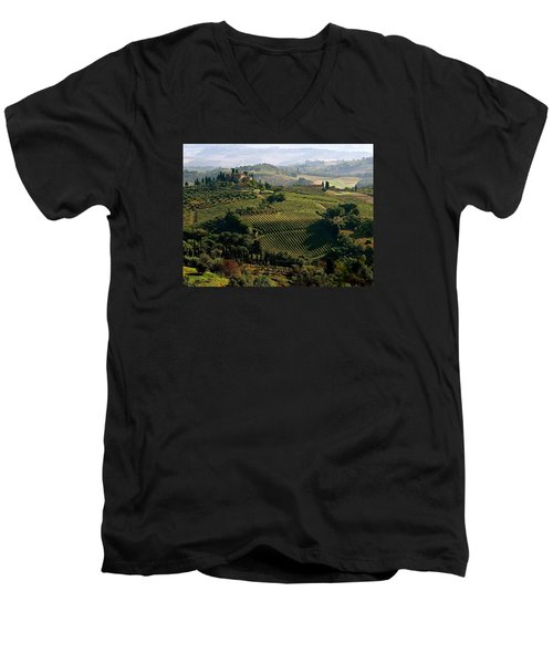 Under The Tuscan Sun Men's V-Neck T-Shirt by Ira Shander
