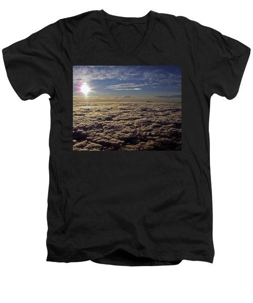 Men's V-Neck T-Shirt featuring the photograph Undercast And Sun by Greg Reed