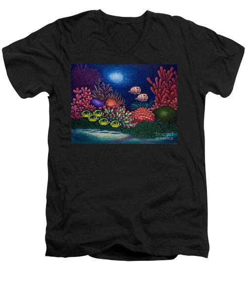 Undersea Creatures Vi Men's V-Neck T-Shirt