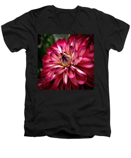 Dahlia Unfolding Men's V-Neck T-Shirt