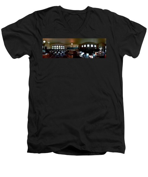 Union  Illinois One Room School House Men's V-Neck T-Shirt