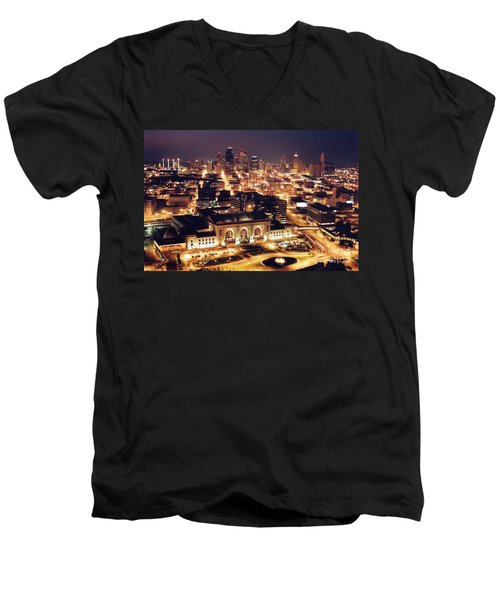 Union Station Night Men's V-Neck T-Shirt