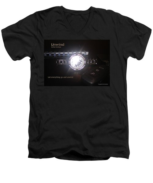 Unwind - Let Go Men's V-Neck T-Shirt