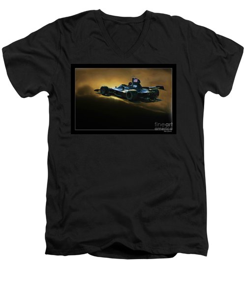 Uop Shadow F1 Car Men's V-Neck T-Shirt