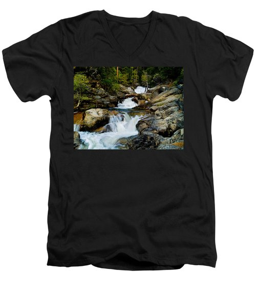 Up The Creek Men's V-Neck T-Shirt by Bill Gallagher