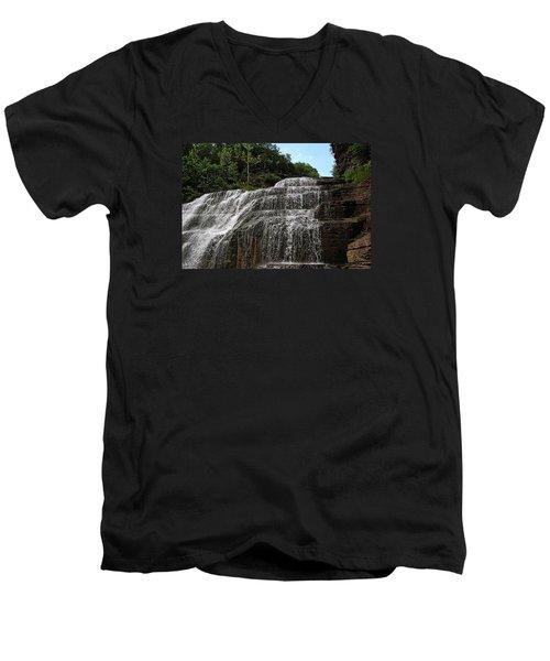 Up The Falls Men's V-Neck T-Shirt
