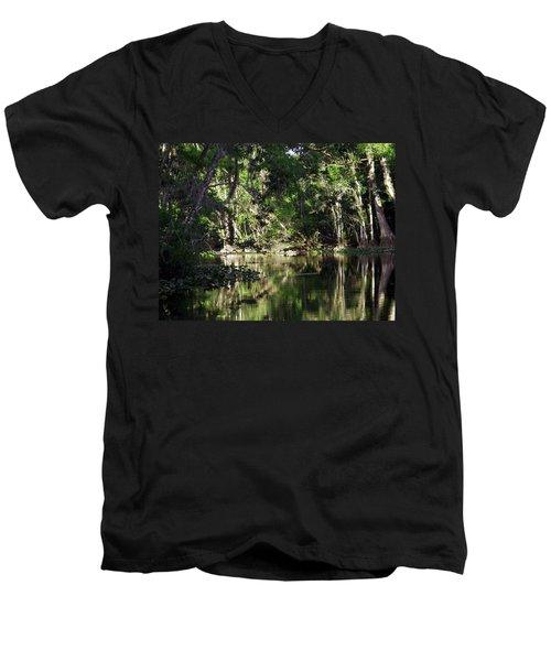 Up The Lazy River  Men's V-Neck T-Shirt