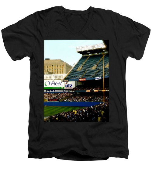 Upper Deck  The Yankee Stadium Men's V-Neck T-Shirt by Iconic Images Art Gallery David Pucciarelli