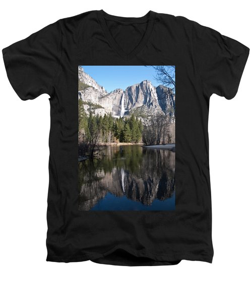 Upper Yosemite Fall Men's V-Neck T-Shirt
