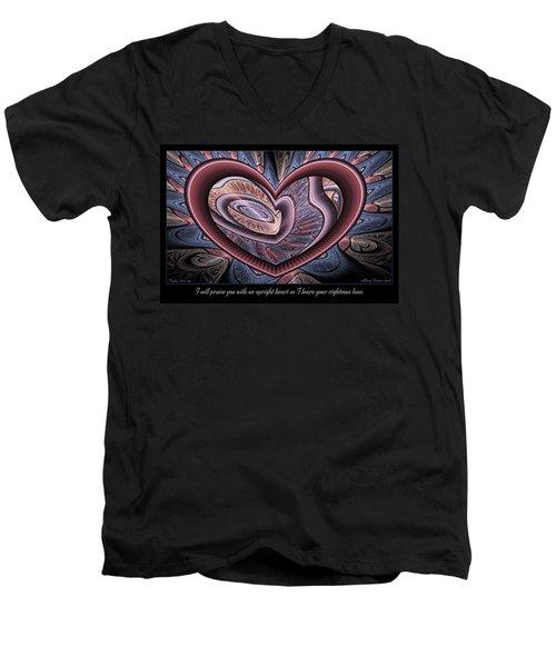 Upright Heart Men's V-Neck T-Shirt
