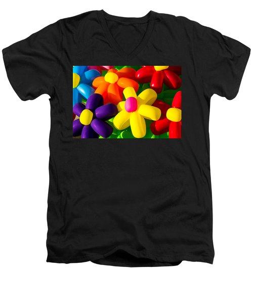 Urban Flowers - Featured 3 Men's V-Neck T-Shirt