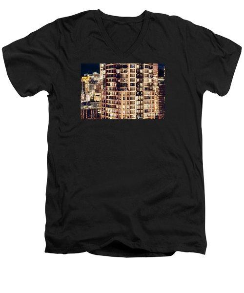 Men's V-Neck T-Shirt featuring the photograph Urban Living Dclxxiv By Amyn Nasser by Amyn Nasser