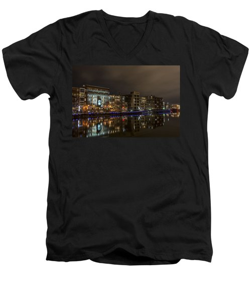 Urban River Reflected Men's V-Neck T-Shirt