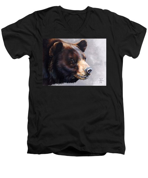 Ursa Major Men's V-Neck T-Shirt by J W Baker