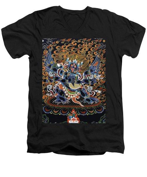 Vajrakilaya Dorje Phurba Men's V-Neck T-Shirt