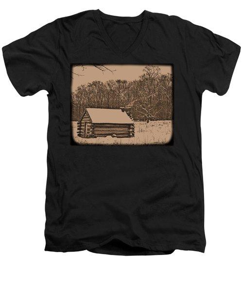 Valley Forge Winter 1 Men's V-Neck T-Shirt