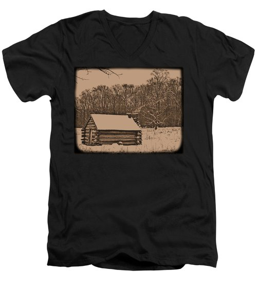 Valley Forge Winter 1 Men's V-Neck T-Shirt