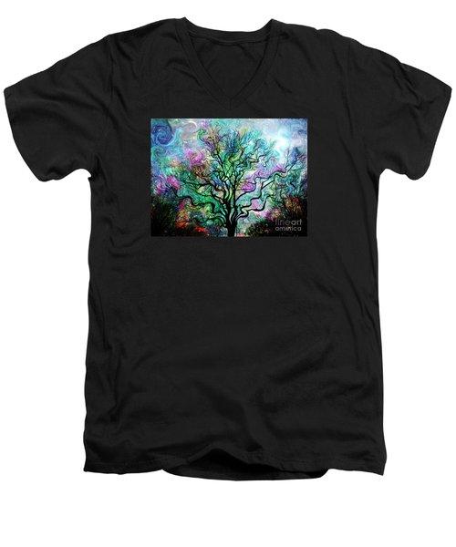 Van Gogh's Aurora Borealis Men's V-Neck T-Shirt