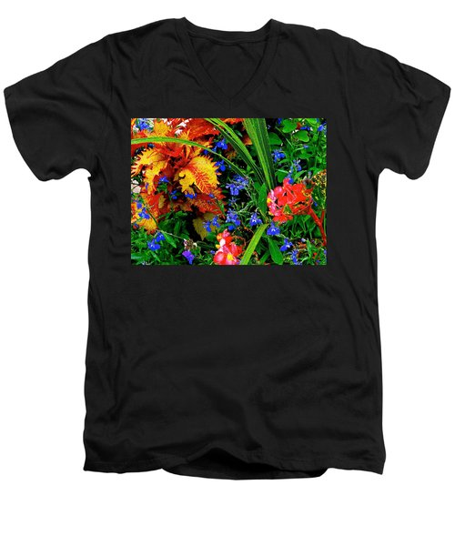 Van Gogh's Garden Men's V-Neck T-Shirt