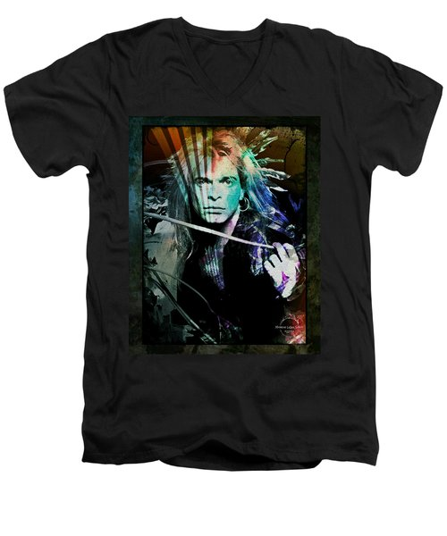 Van Halen - David Lee Roth Men's V-Neck T-Shirt