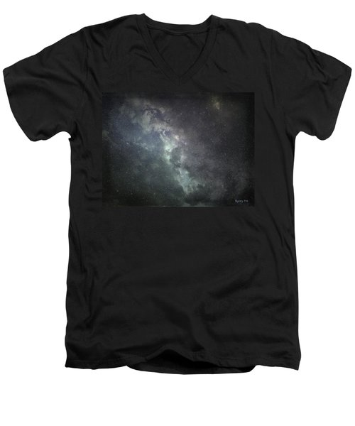 Men's V-Neck T-Shirt featuring the photograph Vast Universe by Cynthia Lassiter