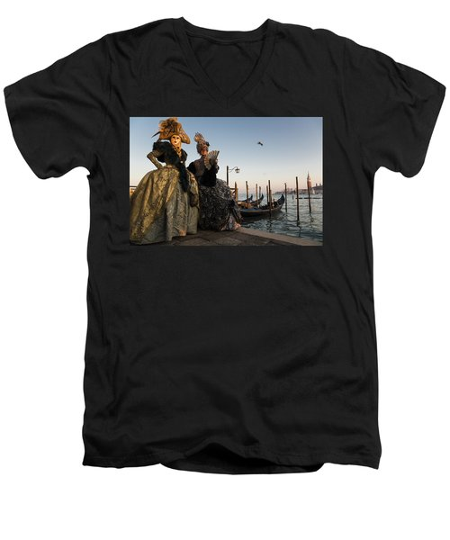 Venice Carnival '15 IIi Men's V-Neck T-Shirt