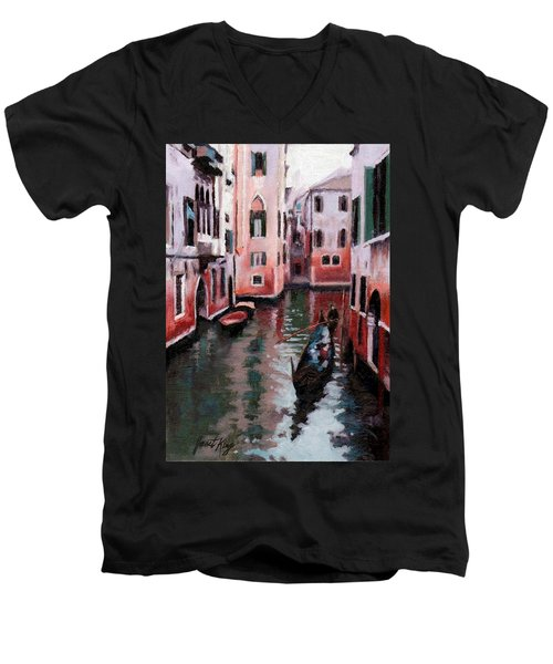 Venice Gondola Ride Men's V-Neck T-Shirt