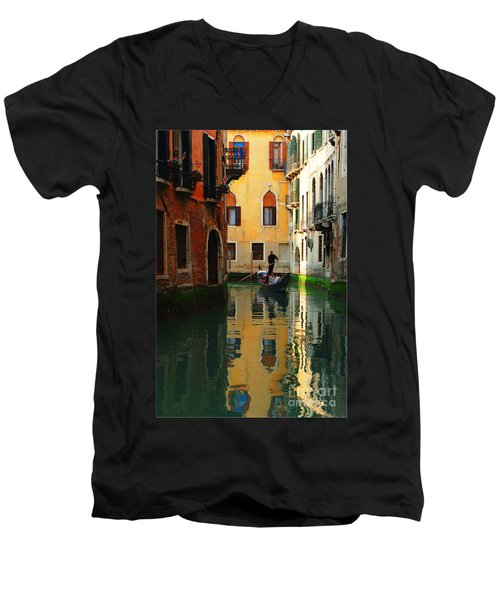 Venice Reflections Men's V-Neck T-Shirt