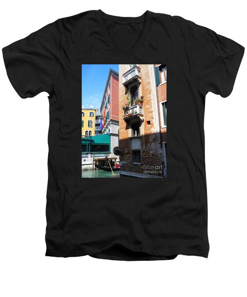 Men's V-Neck T-Shirt featuring the photograph Venice Series 6 by Ramona Matei