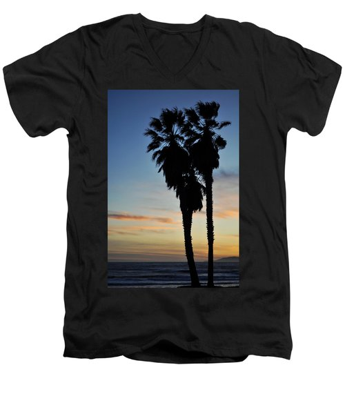 Ventura Palm Sunset Men's V-Neck T-Shirt